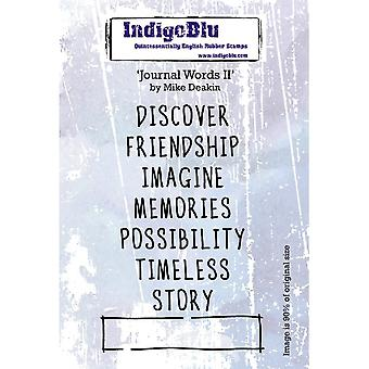 IndigoBlu Journal Words II A6 Tampon en caoutchouc
