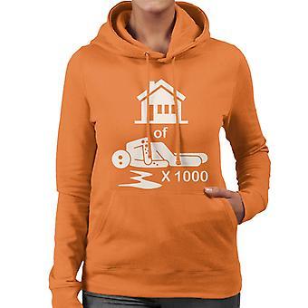 House Of 1000 Stickmen Women's Hooded Sweatshirt