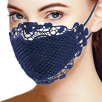 Women Lace Outdoor Anti-dust Double-layer Mascarilles Bandana, Reusable Hiking Scarf