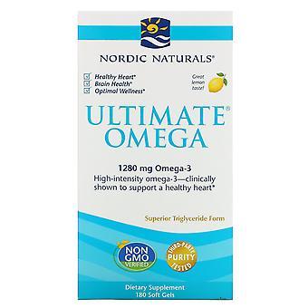 Nordic Naturals, Ultimate Omega, Lemon, 1,280 mg, 180 Soft Gels