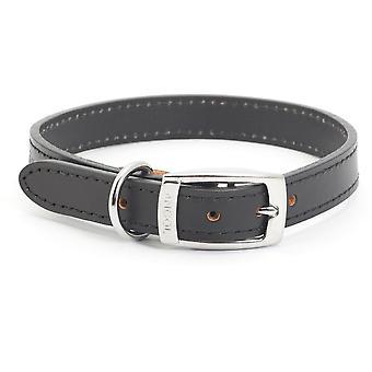Ancol Heritage Leather Collar - Negru - Dimensiune 5 (20 inch)