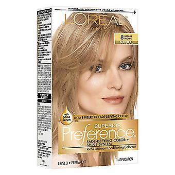 L'oreal paris superior preference hair color, medium blonde 8, 1 kit *