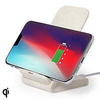 Qi Wireless Charger for Smartphones 146537 Wheat straw Abs