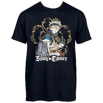 Musta Apila Asta kanssa Demon Dweller Sword Five Leaf Apila T-paita
