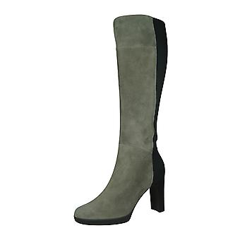 Geox D Annya H.G Womens Knee High Suede Tall Boots - Grey