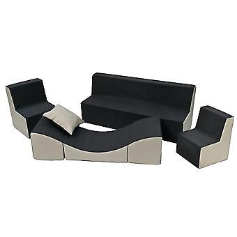 Kleinkind Möbel Set Schaum verlängert grau & beige
