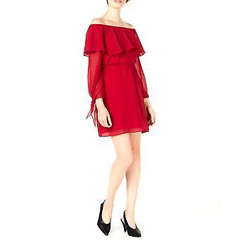 Maison Jules | Ruffled cu mânecă lungă off umăr rochie formală