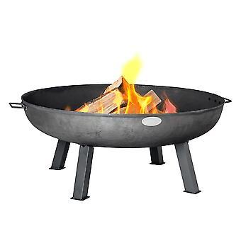 Gietijzeren vuurkorf | Outdoor Garden Patio Heater Camping Bowl voor hout, houtskool - 100cm diameter