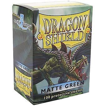 Dragon Shield Klassische Standard Größe Ärmel 100pk - grün (Packung mit 10)