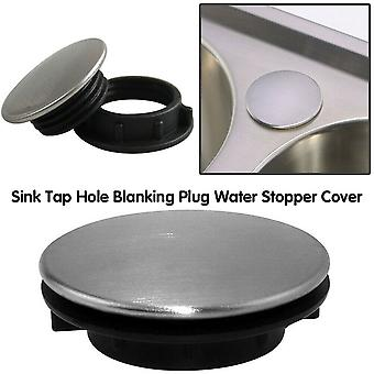 Stainless Steel Kitchen Sink Tap -hole Blanking Metal Plug Water Stopper Cover