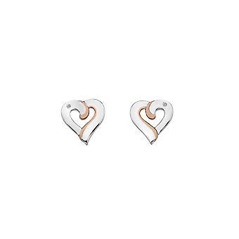 Hete diamanten samen oorbellen DE546