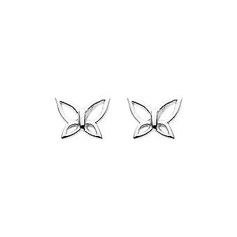 Dew Sterling Silver Dinky Cut Out Wing Butterfly Stud Boucle d'oreille 48078HP004