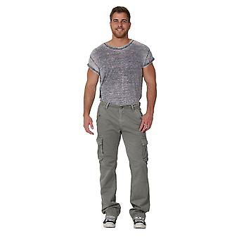 Men's cargo trousers with drawstring at ankle - size 36 only - grey