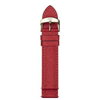 Gv2 von Gevril GV218.05.01.9 18mm rot Saffiano Lederstrap Gelb gold Schnalle