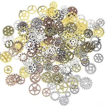 100g/ Lot Jewelry Craft Vintage Cogs, Pendant Wrist Watch Mix Alloy Gear-