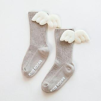 Baby Knee High Socks, Angel Wing - Summer, Autumn, Cotton Socks