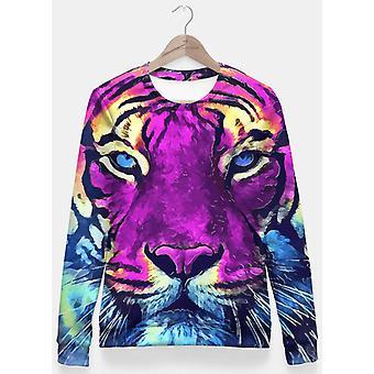Tigre viola spirito bluza taliowana