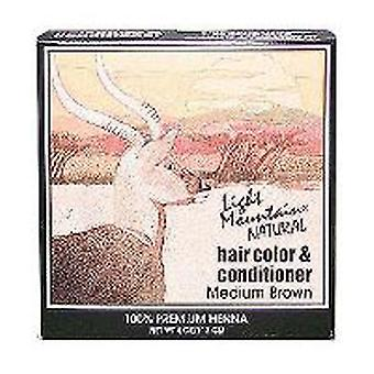 Light Mountain Natural Hair Color and Conditioner, Brown-Medium 4 Oz
