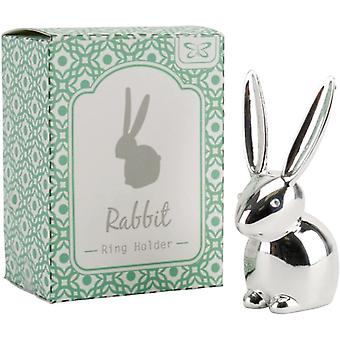 Rabbit Silver Plated Ring Holder
