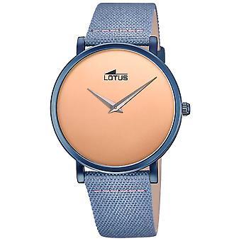 Lotus Men's Blue Leather Strap | Rose Gold Dial L18781/1 Watch