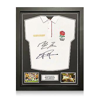Jonny Wilkinson ja Martin Johnson allekirjoittivat Englannin rugbypaidan. Vakiokehys