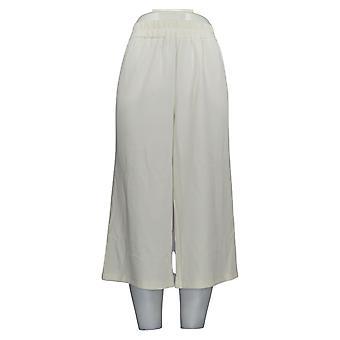 Joan Rivers Classics Collection Women's Petite Pants Getextureerde Ivory A351447