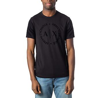 Armani exchange black logo men t-shirt