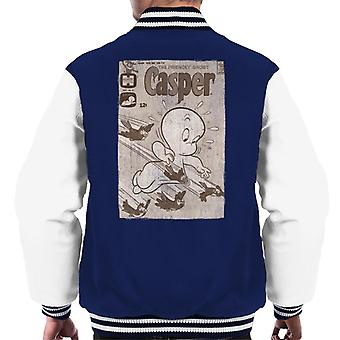 Casper The Friendly Ghost Birds Flying Men's Varsity Jacket