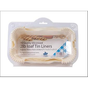 Essential Greaseproof Loaf Tin Liner 2lb x 40 FP2LOAF