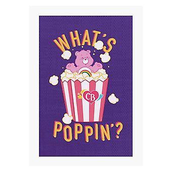 Care Bears Cheer Bear Whats Poppin A4 Print