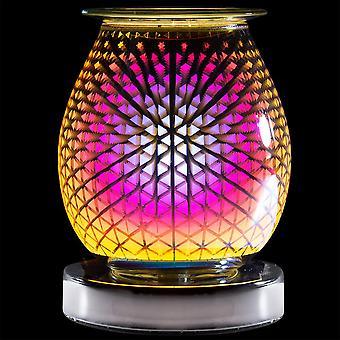 Desire Aroma Cascade Design Lámpara táctil eléctrica Cera Derreti Quemador de aceite