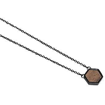 Collier Hexagone BeWooden Apis Nox - Noir/Brun