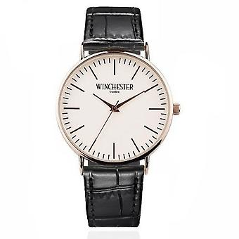 Winchester of Sweden Classic 38 watch black leather