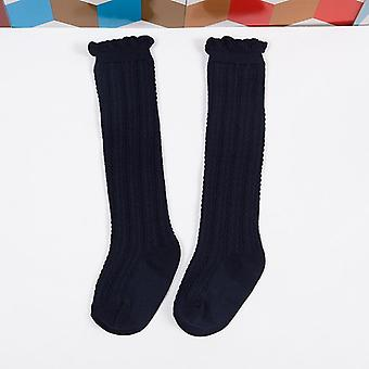 Cotton Baby Unisex Uniform Knee High Socks, Tube Ruffled Stockings Infants And