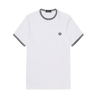 T-Shirt Fred Perry Twin Tipped T Shirt Weiß