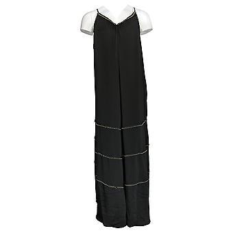 Rachel Hollis Ltd Dress Peasant With Beading Detail Black A365639