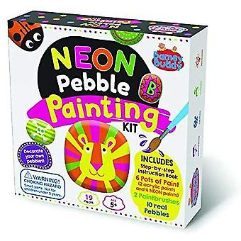 Paint your own neon pebbles starter kit