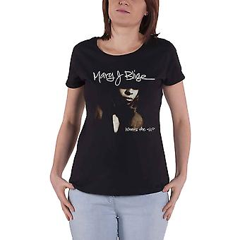Mary J Blige T Shirt What the Cover Logo new Official Womens Skinny Fit Black