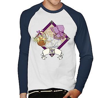 Holly Hobbie med en korg av frukt och blommor Män & apos; s Baseball Långärmad T-shirt