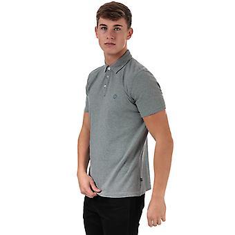Men's Henri Lloyd Striped Jersey Polo Shirt in Blue