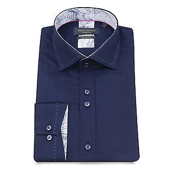 Guide London Plain Pure Cotton Long Sleeve Men's Shirt