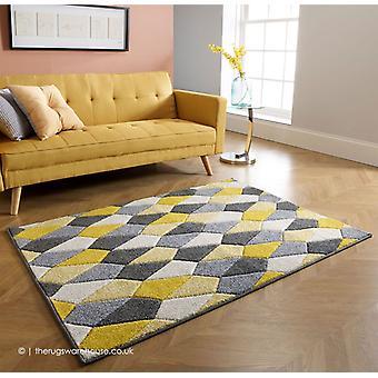 Portland Polygons keltainen matto