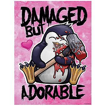 Psycho Penguin Dañado pero adorable Mini Cartel