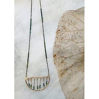 Half Moon Blue/green Tourmaline Necklace 20-22""