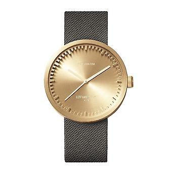 Leff Amsterdam LT72025 D42 Brass Tube Wristwatch Cordura Strap