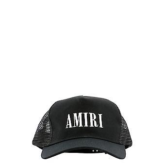 Amiri Mah001004schwarzweiß Männer's schwarze Baumwollmütze