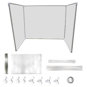 Transparent plastsköldskyddsbord för skola, klassrum, räknare,