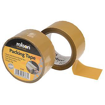 Rolson 60388 Brown Parcel Tape 50mm