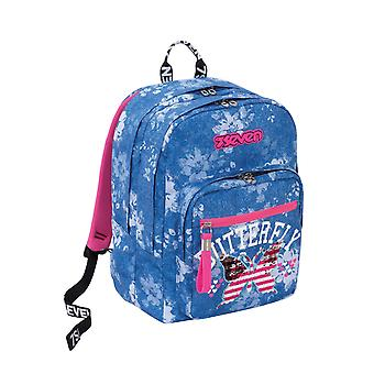 Extra Fit Seven Backpack, Flying Dreams, Blue, School and Leisure