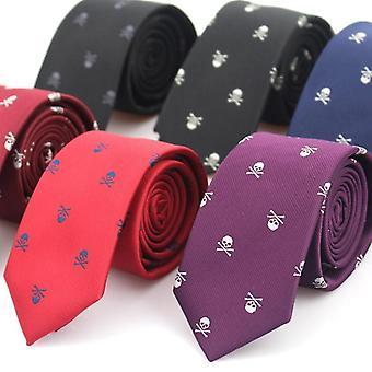 Uusi Rento Slim Skull Ties Classic Polyester Neckties
